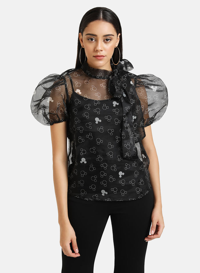 Mickey Mouse © Disney Printed Organza Top