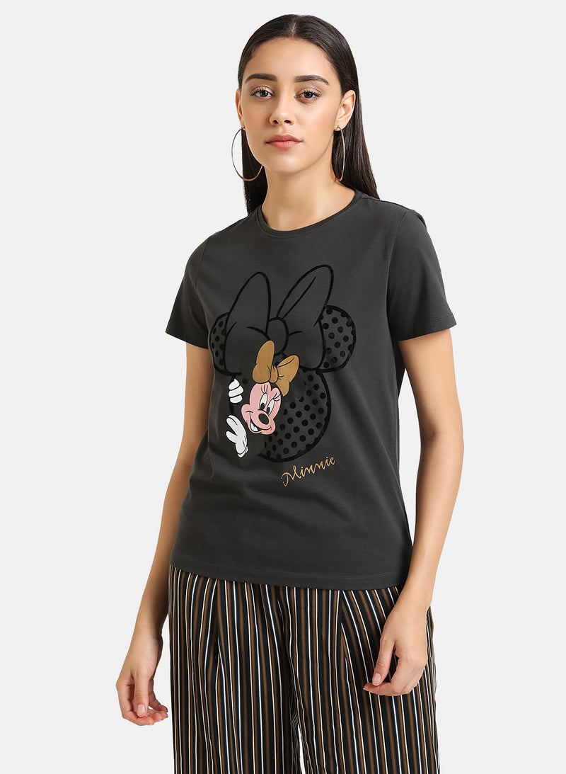 Minnie Mouse  © Disney Flock Print Tee