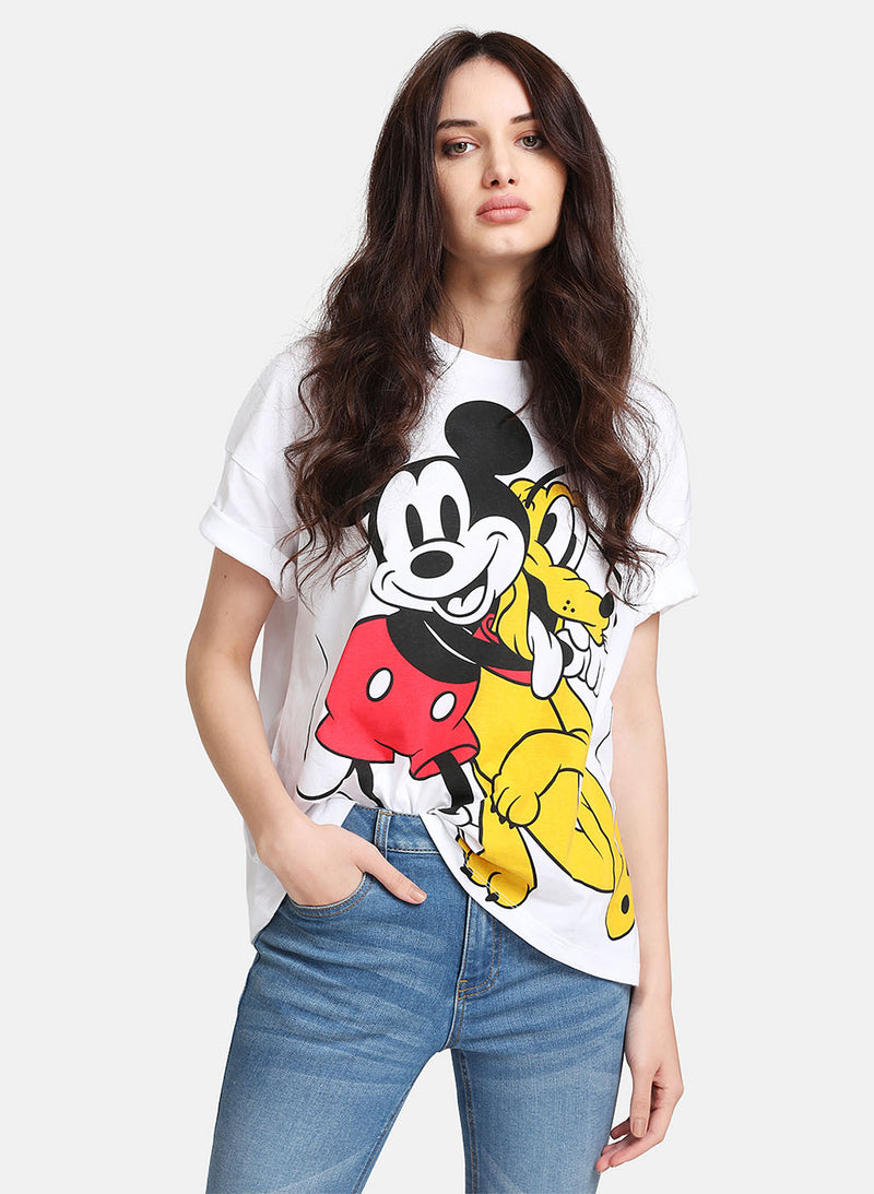Mickey Mouse & Pluto © Disney  Printed T-Shirt