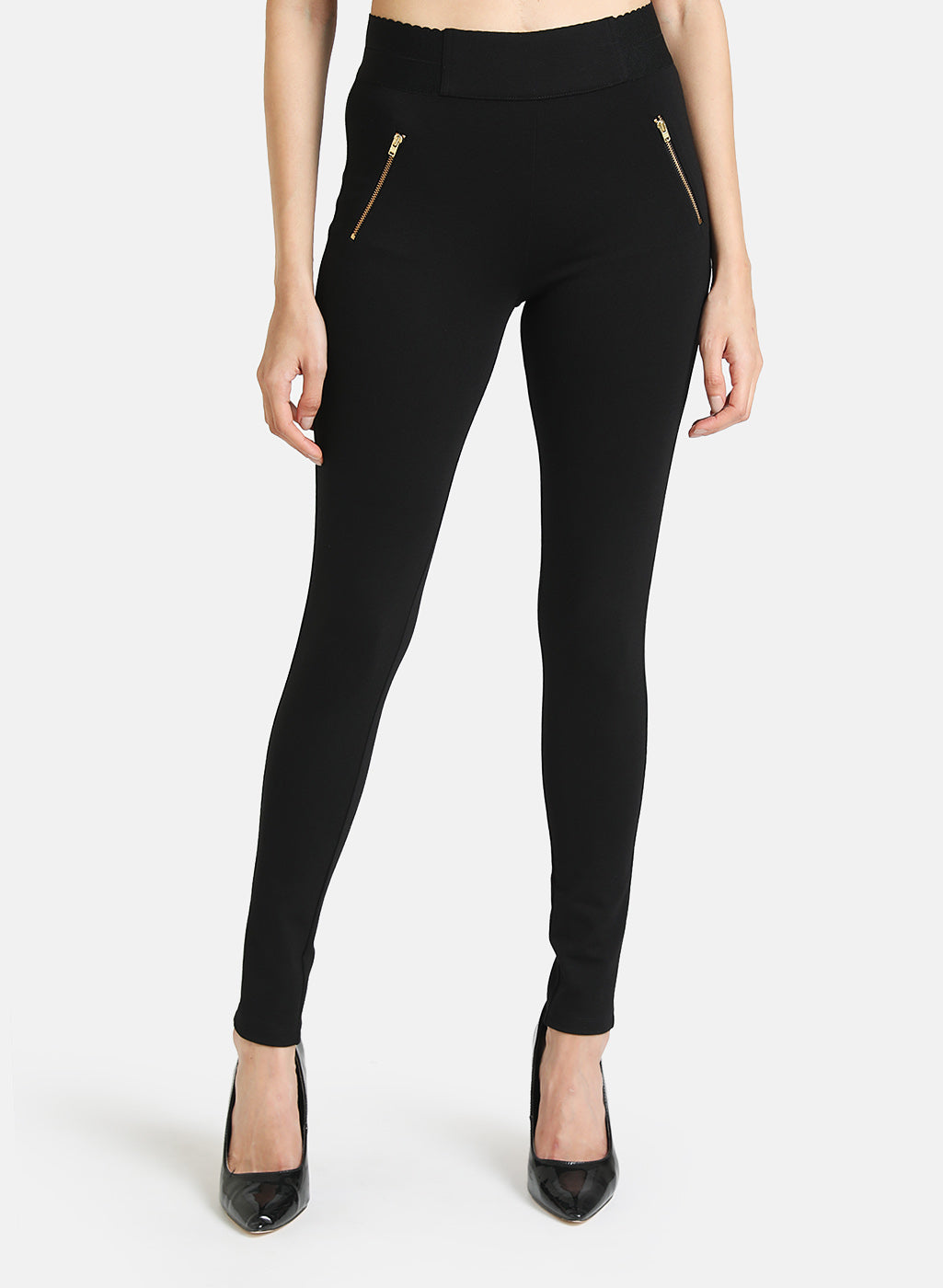 JEGGING WITH ZIPPER DETAIL AT POCKET