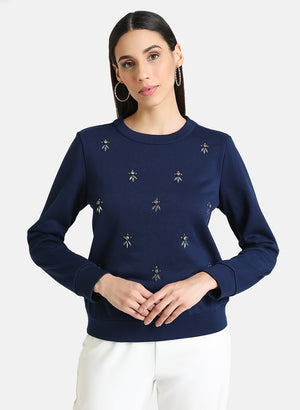 Spaced Embellished Pullover