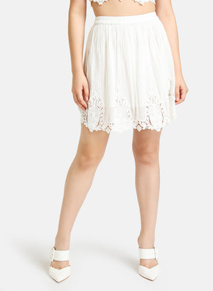 SHIFFLI DETAILED FLARED MINI SKIRT