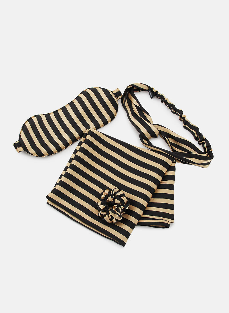 Gold Striped  Slay in Satin (Gift Set)