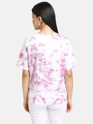 MINNIE MOUSE PRINT TIE DYE TEE