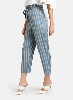 PAPER BAG STRIPED TROUSER