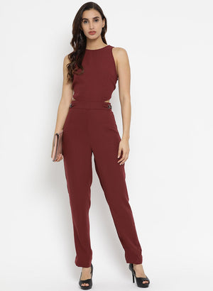 Sleevless Jumpsuit With Cut Out Details On The Wai