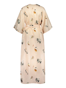 Compassionate Wrap Dress, Summer Wind Champange