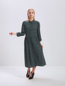 Sincere Dress, Dots Green (Store Tampere)
