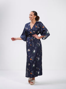 Compassionate Wrap Dress, Summer Wind Dark Blue