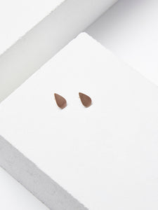 Petite Drop Stud Earrings, Bronze