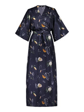 Load image into Gallery viewer, Compassionate Wrap Dress, Summer Wind Dark Blue