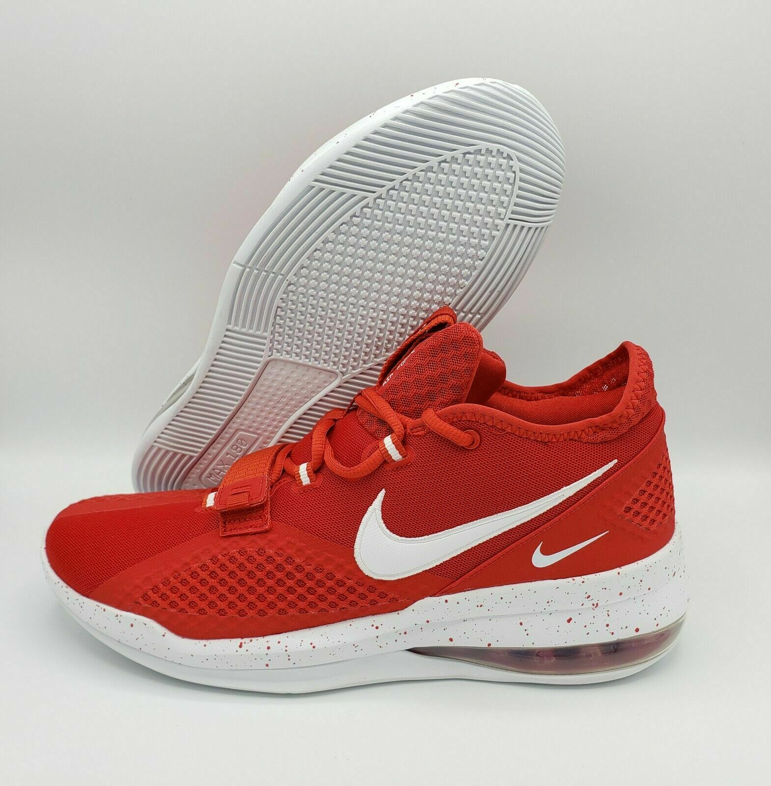 NIKE AIR FORCE MAX 180 LOW RED WHITE BASKETBALL CN9517- 603