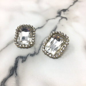 CALEY vintage statement crystal stud earrings -