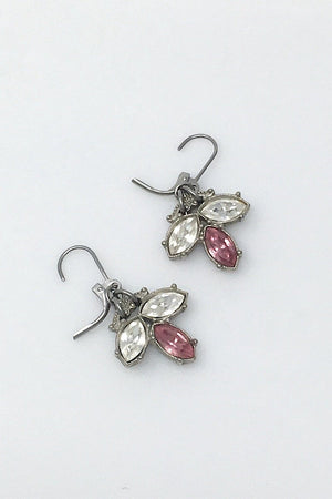 CARMEN vintage pink crystal drop earrings -