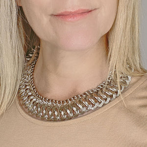 HOLLOWAY chunky silver chain necklace -