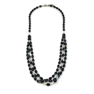 KELVIN vintage onyx necklace -