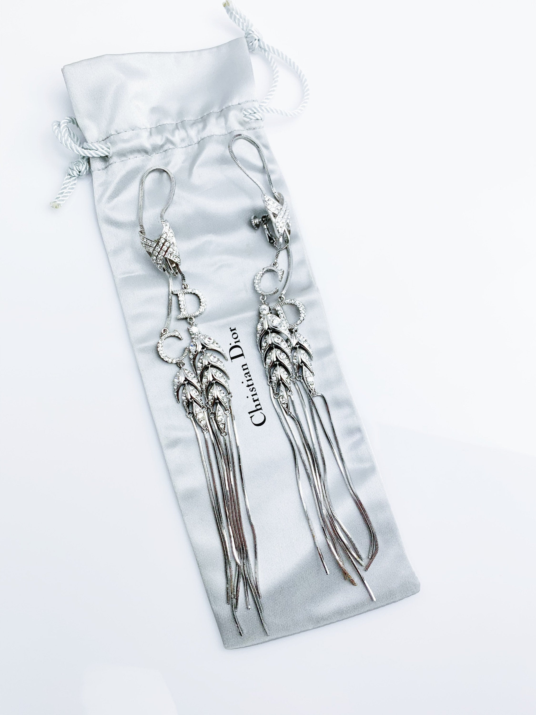 Rare collectible! Dior Spring 2003 RTW Runway Prototype Chandelier Earrings