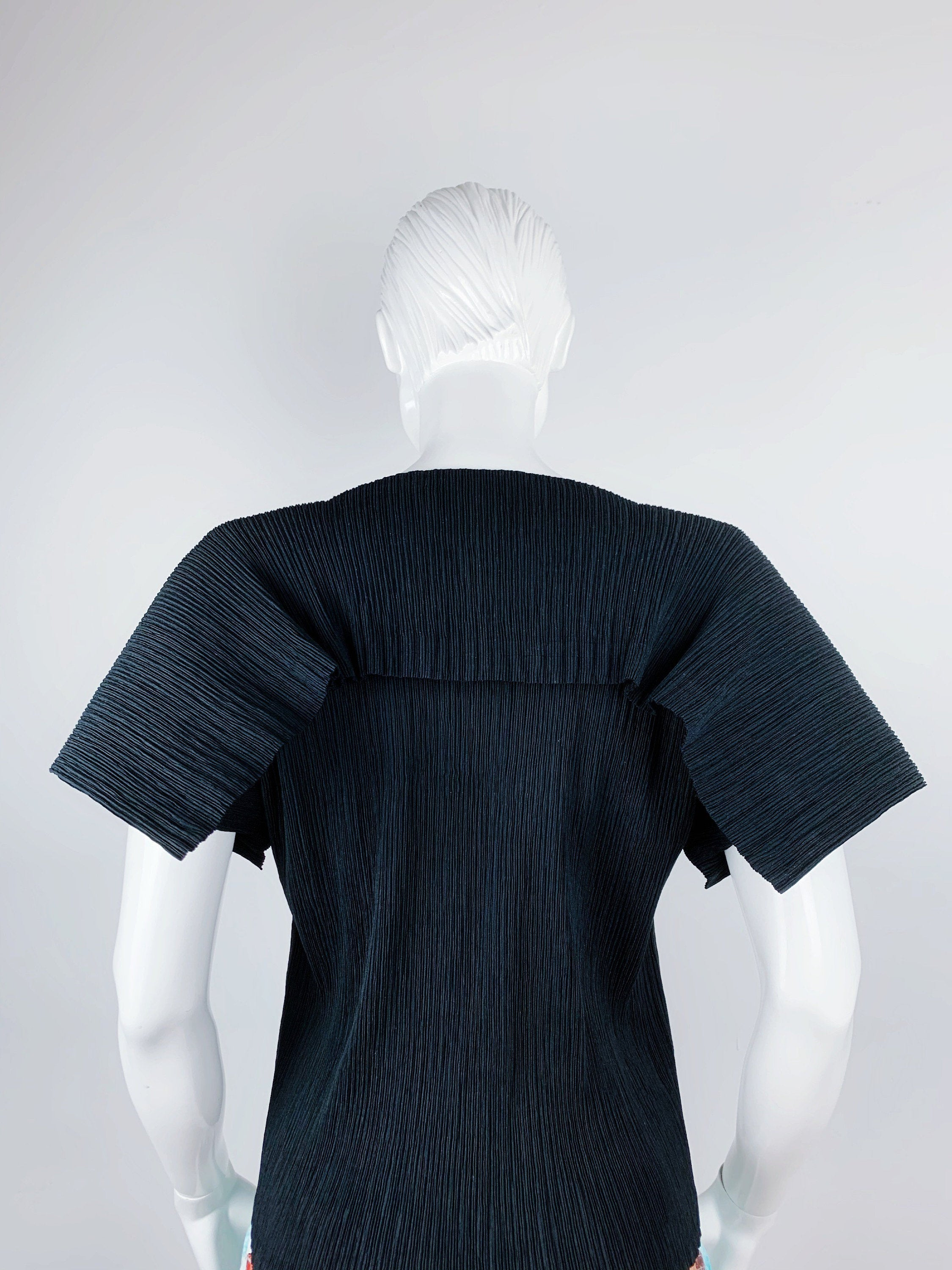 Vintage Issey Miyake White Label Pleated Top