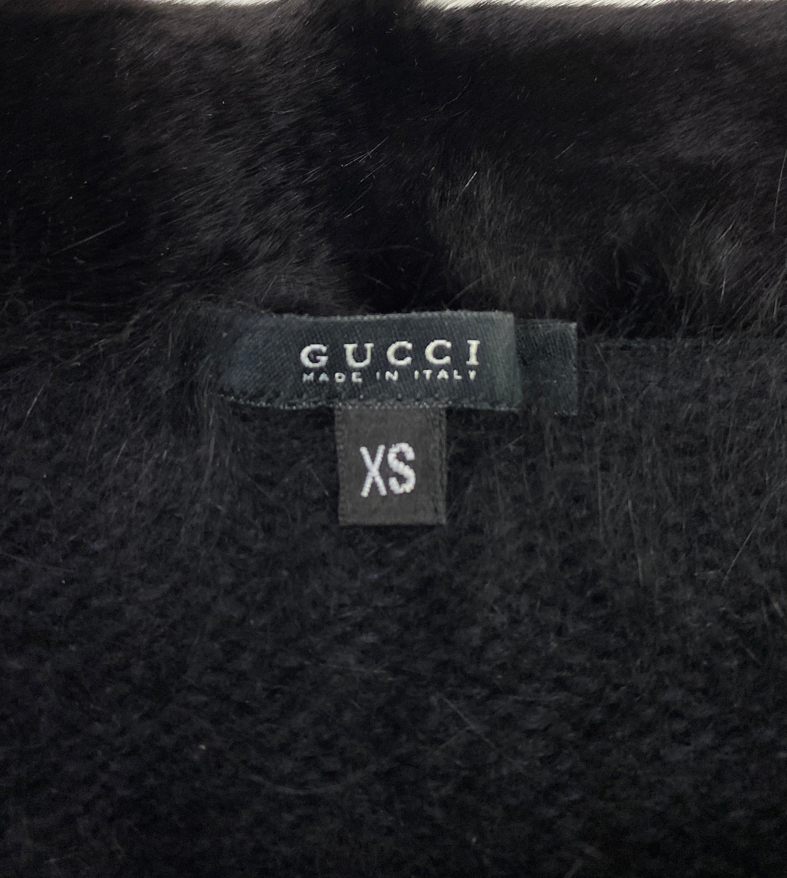 Gucci Fall 2001 Angora Sweater with Mink details