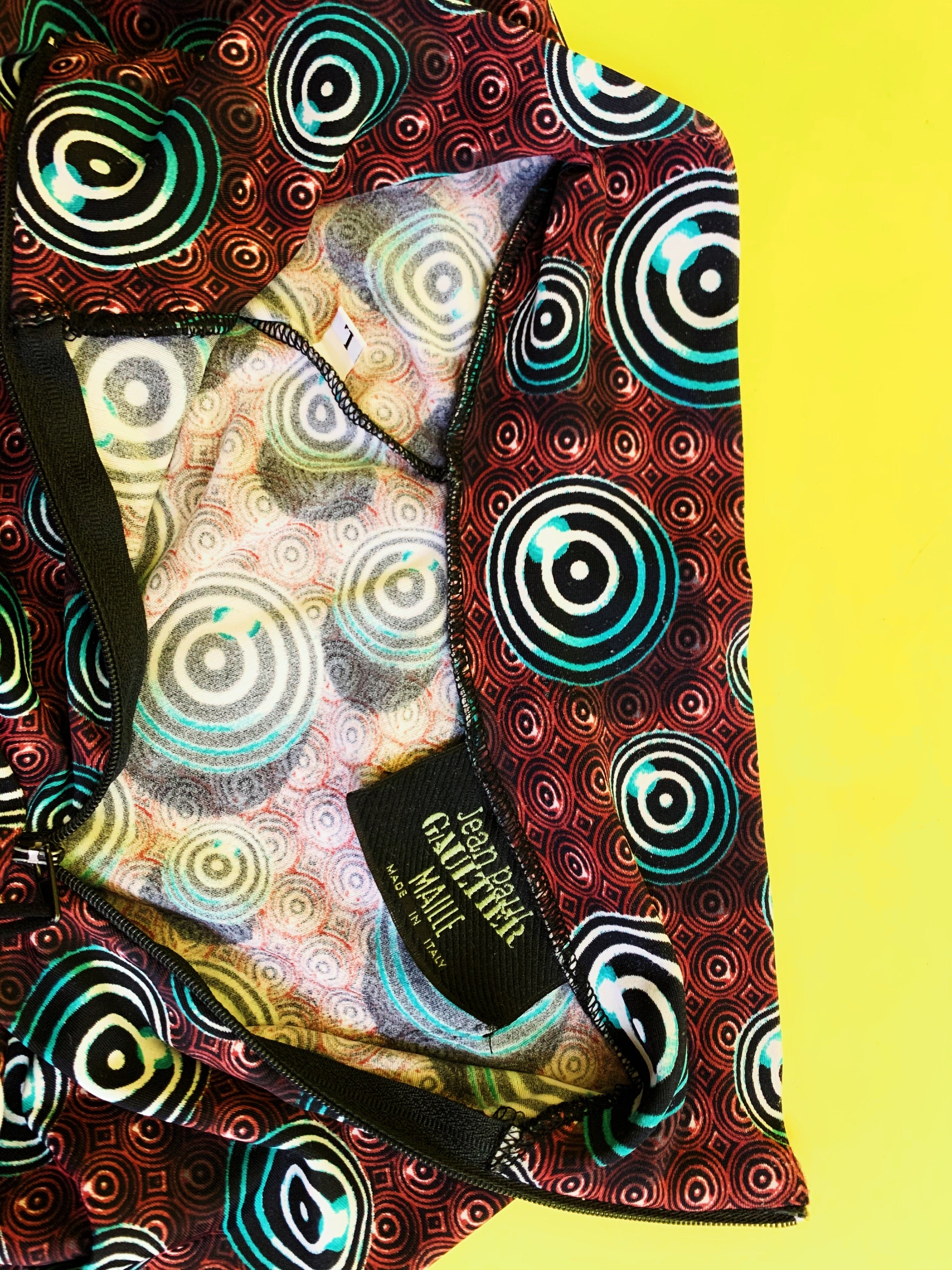 Jean-Paul Gaultier Fall 1996 Psychedelic Print Spandex Top