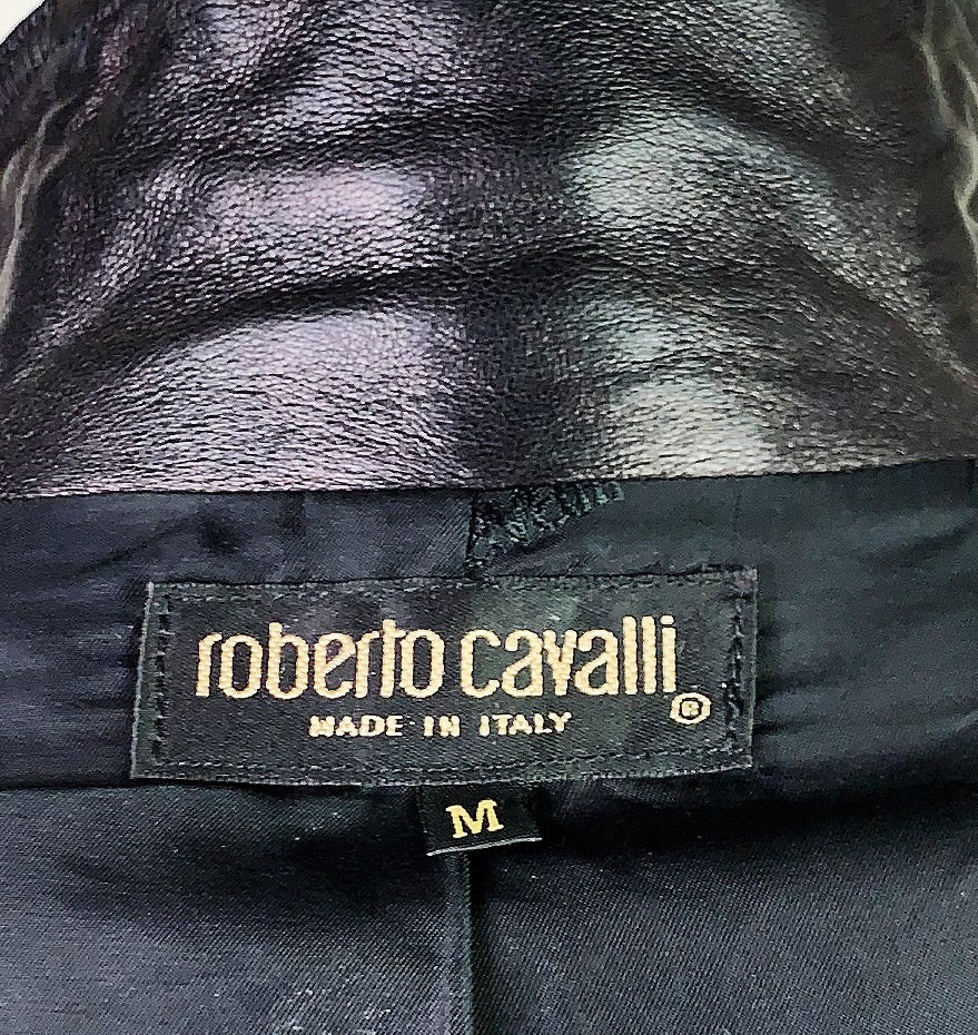 Roberto Cavalli Fall 2000 Leather Jacket