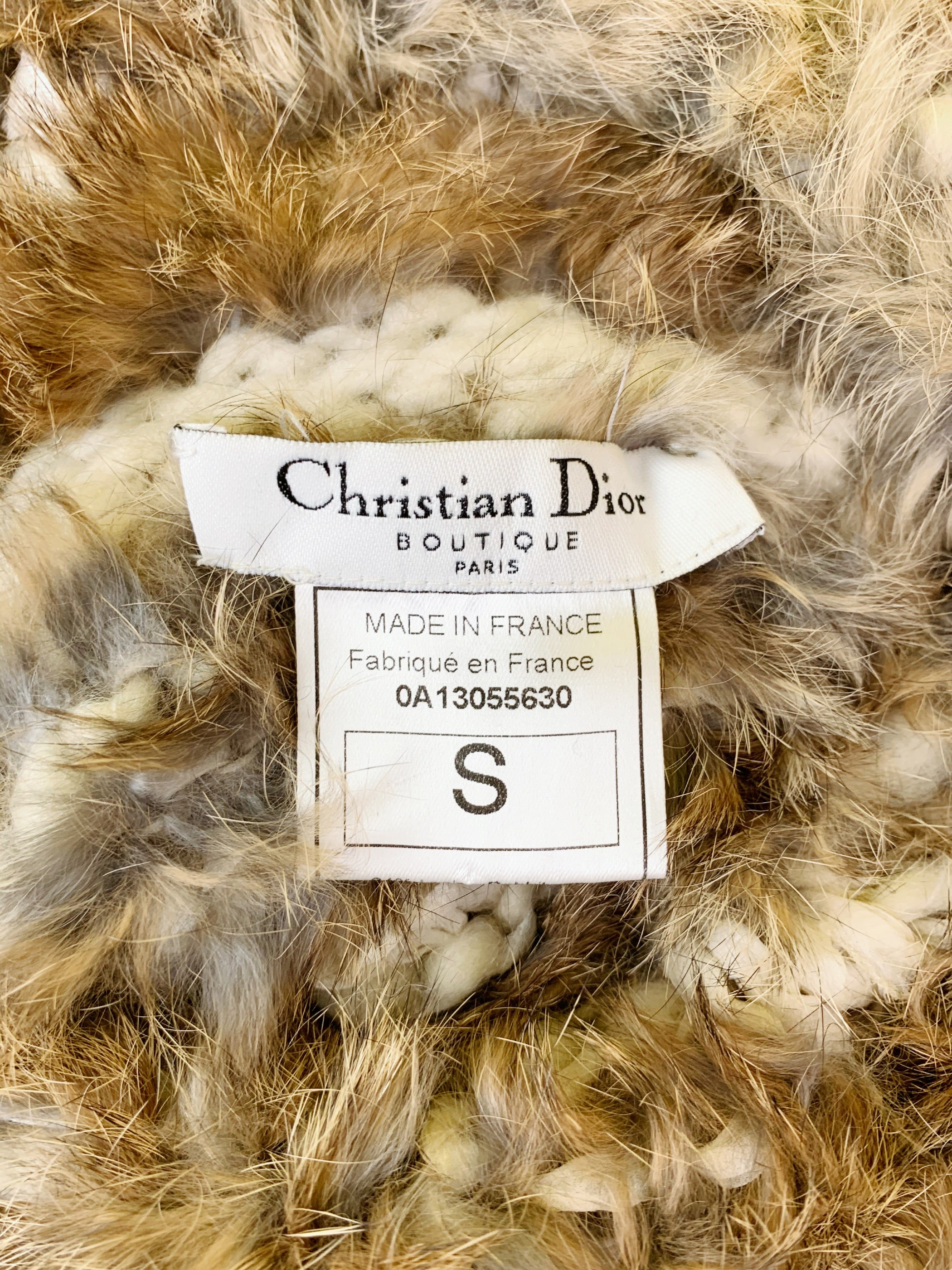 Dior Fall 2000 RTW Furry Sweater