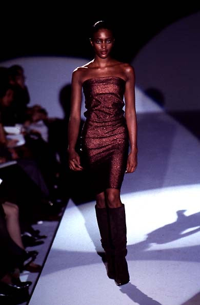 Gucci Spring 1997 Metallic Maxi Tube Dress