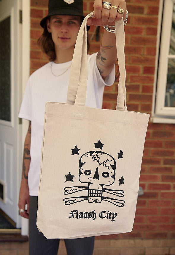 Skull and Bones Recycled Tote Flaash Apparel