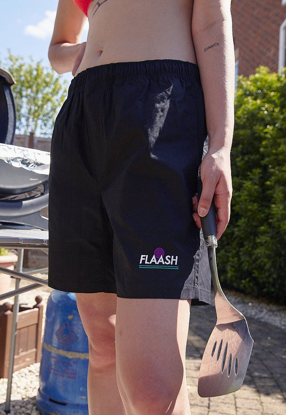 Lazy Beach Shorts Black flaash apparel1