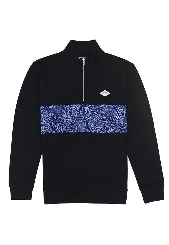 Tidal Wave Organic Black 1/4 Zip Flaash Apparel