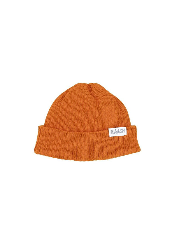 Fisherman Merino Wool Orange Beanie Flaash Apparel