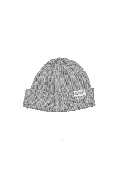 Fisherman Merino Wool Grey Beanie Flaash Apparel