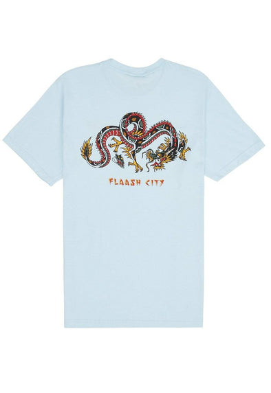 Sonny Joe Dragon Tee Light Blue flaash apparel1