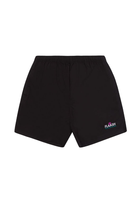 Breezy Beach Shorts Black flaash apparel1
