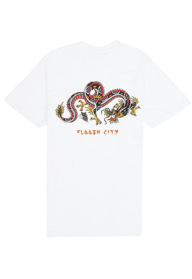 Sonny Joe Dragon Tee White flaash apparel1