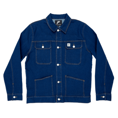 Denim Worker Jacket - Navy flaash apparel1