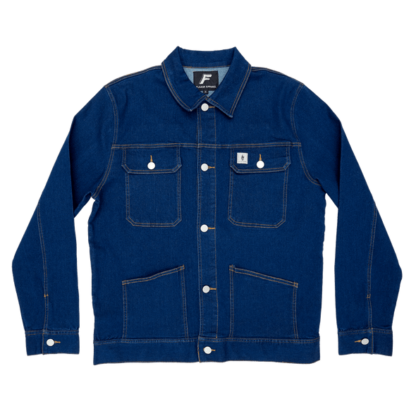 Denim Worker Jacket - Navy