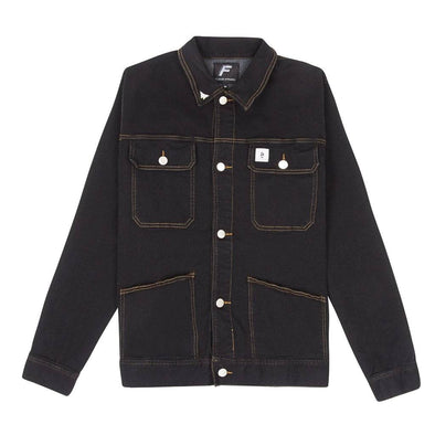 Denim Worker Jacket - Black flaash apparel1