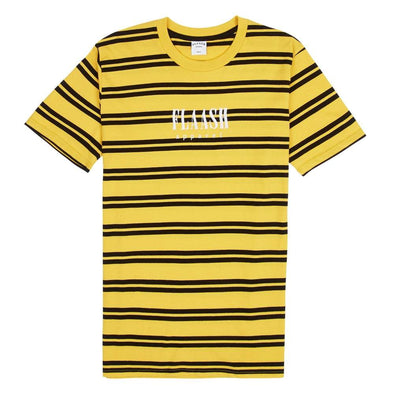 Bobby Stripe Tee - Yellow/Black flaash apparel1