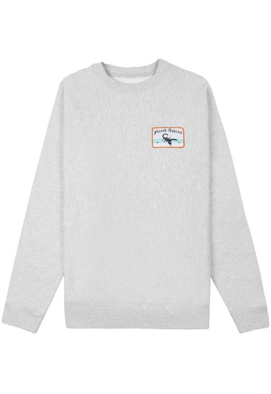 Deluxe Patched Sweatshirt - Grey Flaash Apparel
