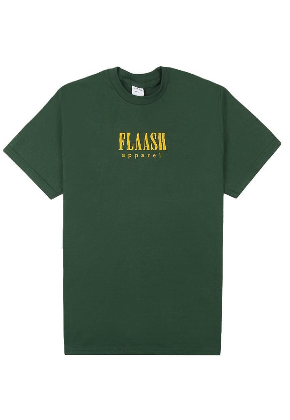 Wavy Logo Tee - Dark Green flaash apparel1