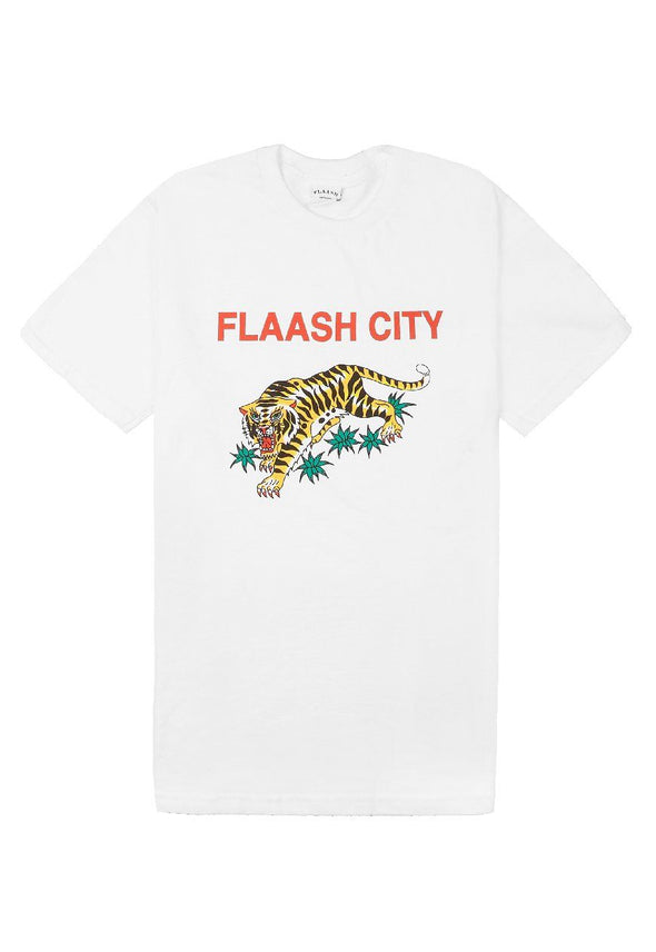 Tigers Souvenir Tee White Flaash Apparel