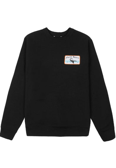 Deluxe Patched Sweatshirt - Black Flaash Apparel