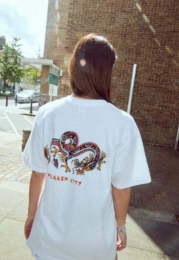 Sonny Joe Dragon Tee White