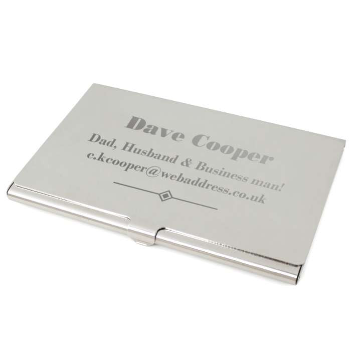 Gift Horse - Personalised Art Deco Business Card Holder