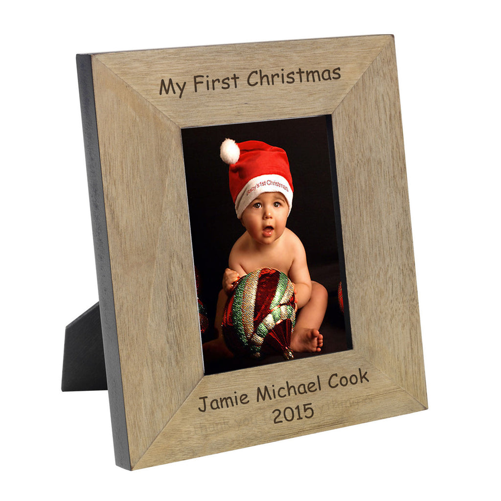 from 1899 my first christmas wooden photo frame 4x6 or 5x7