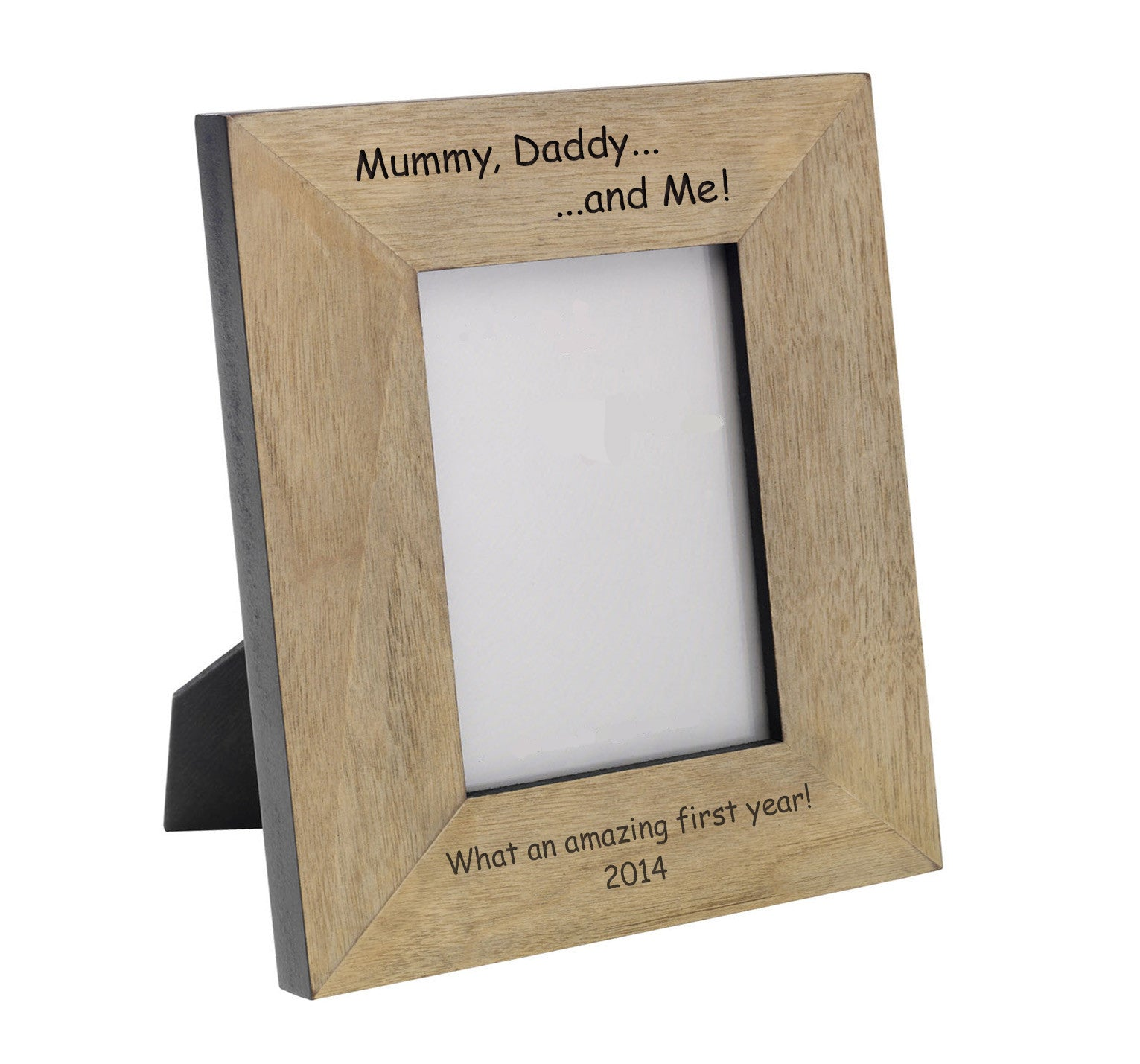 Wooden \'Mummy, Daddy & Me!\' Personalised Family Photo Frame