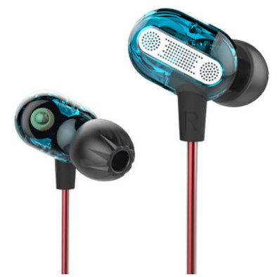 KZ ZSE-HiFi Double Dynamic Driver 3.5mm Wired Noise Isolating Heavy Bass In-ear Earphone With Microphone-(BN-006-1200277)