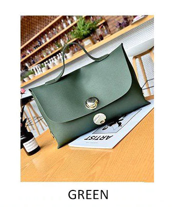 (WHSK-004)-PU Leather Large Capacity Handbag