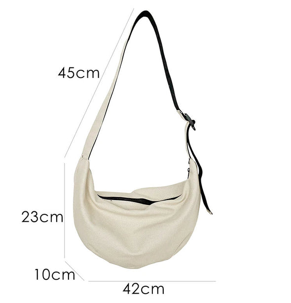 (WHSK-005)-Fashion Women Large Capacity Canvas Shoulder Bags